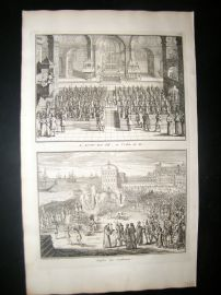 Picart C1730 Folio Antique Print. Religious. The Spanish Inquisition